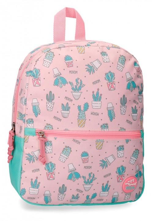 3432261 mochila pequeña 32 cm movom cactus rosa