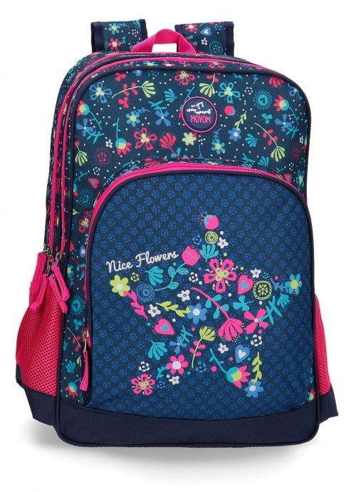 3442461 mochila 45 cm doble compartimento adaptable movom nice flowers