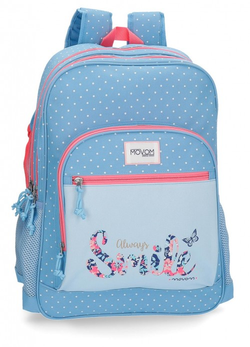 3542461 mochila 42 cm doble c. adaptable movom always smile