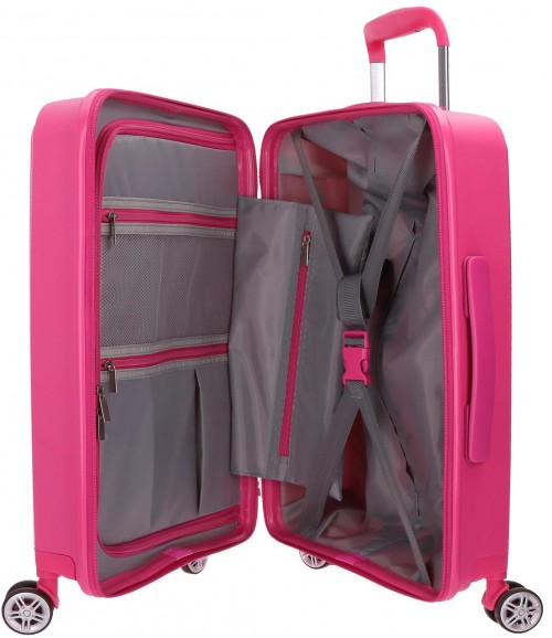 5879163   maleta cabina polipropileno movom tokyo fucsia interior