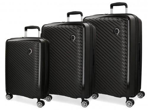 5879461 juego maletas cabina + mediana + grande movom tokyo negro