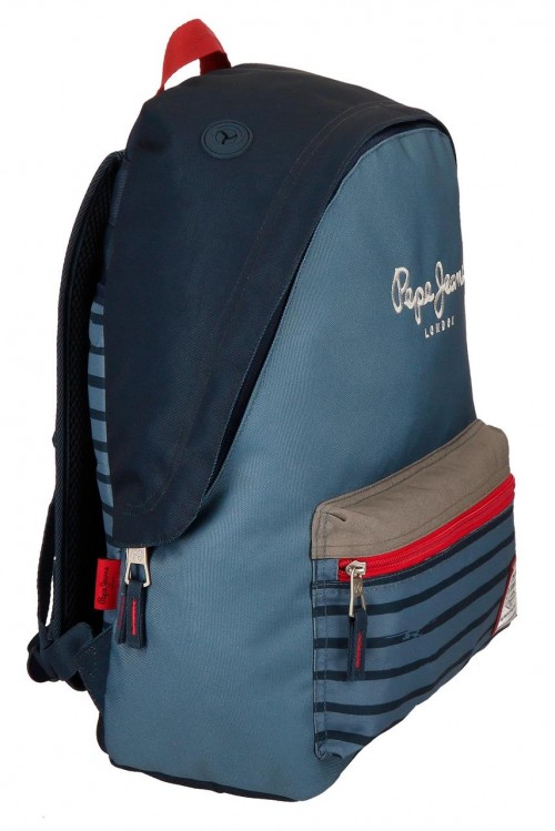 6332361 mochila 42 cm adaptable pepe jeans yarrow lateral
