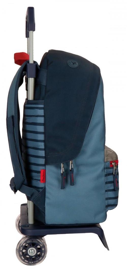 63323N1 mochila 42 cm carro pepe jeans yarrow lateral