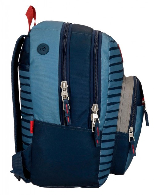 6332461 mochila 44cm doble c. pepe jeans yarrow lateral