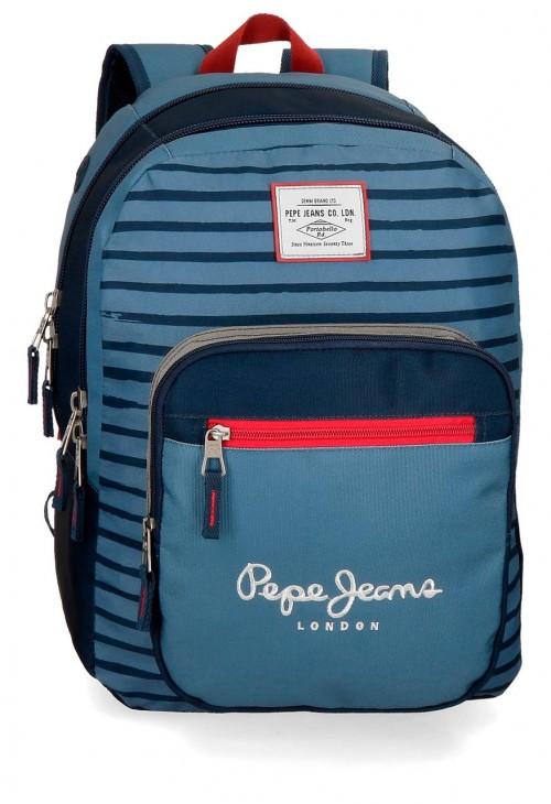 6332461 mochila 44cm doble c. pepe jeans yarrow