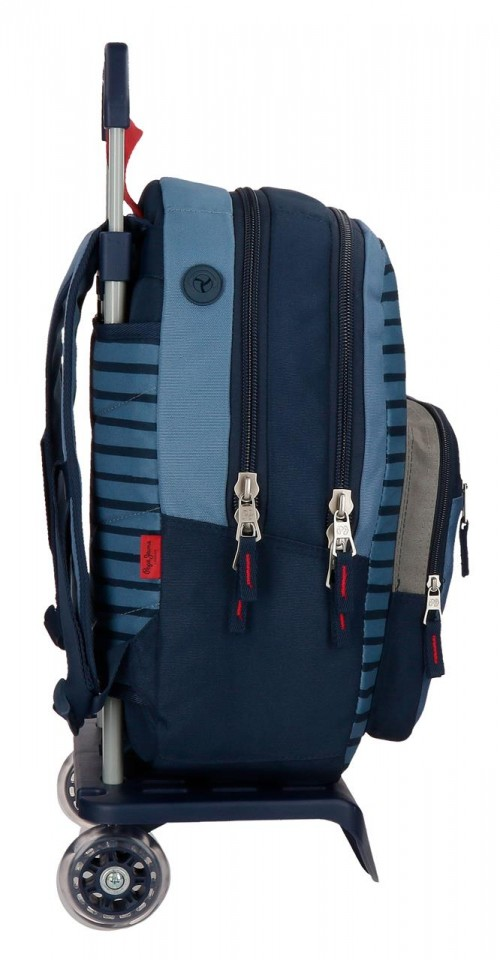 63324N1 mochila 44 cm carro doble c. pepe jeans yarrow