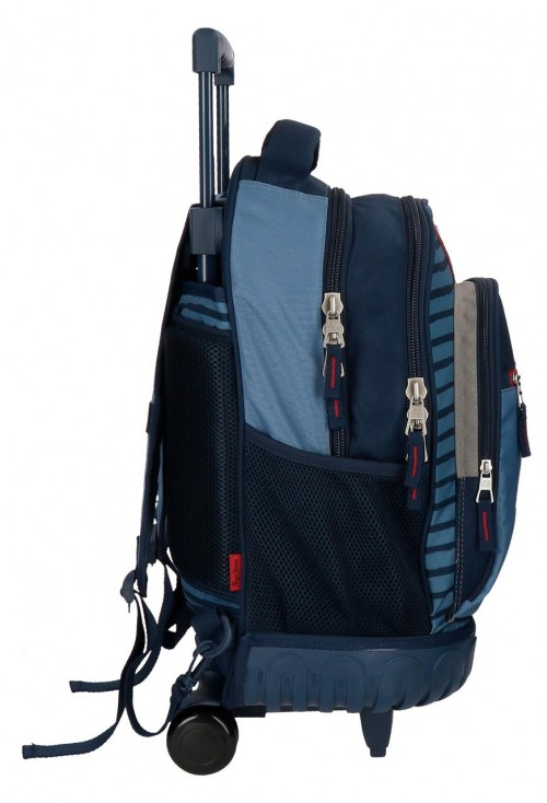 6332961 mochila compacta reforzada pepe jeans yarrow lateral
