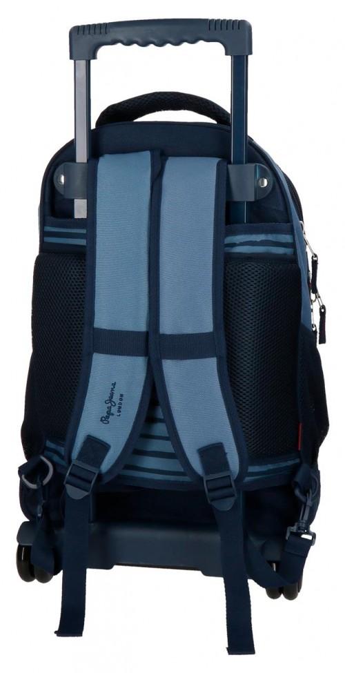 6332961 mochila compacta reforzada pepe jeans yarrow trasera