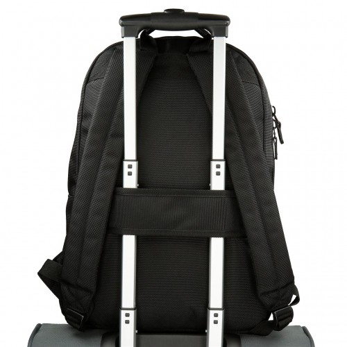 7472361 mochila 44 cm pepe jeans all black  adaptable a trolley