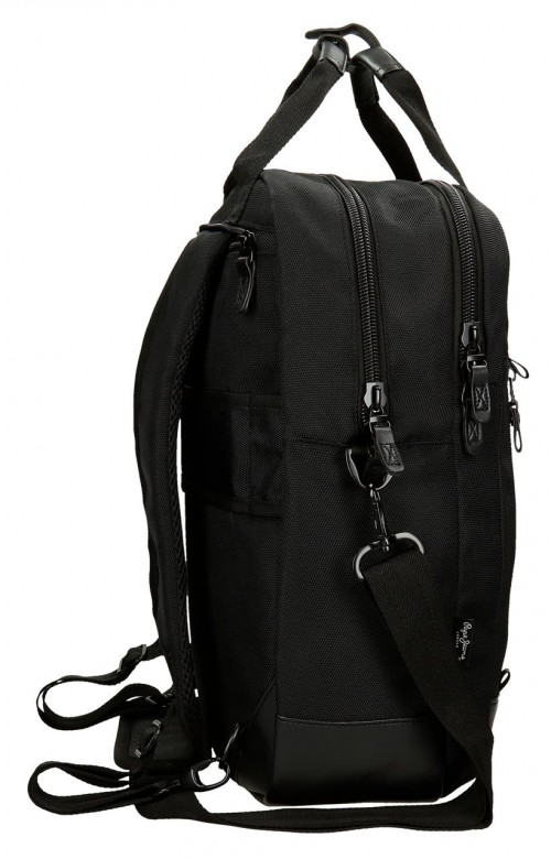 7472461 Mochila 42 cm pepe jeans all black lateral