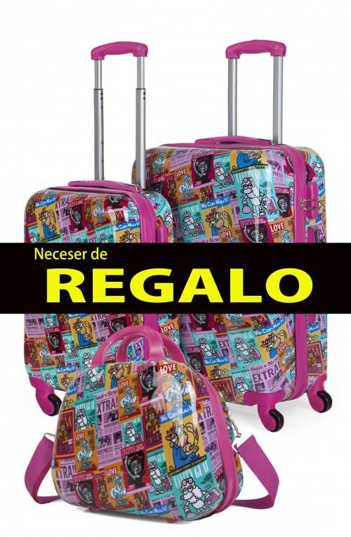 130700 juego maletas cabina + mediana KIOSKUXUMUSU GIRLS