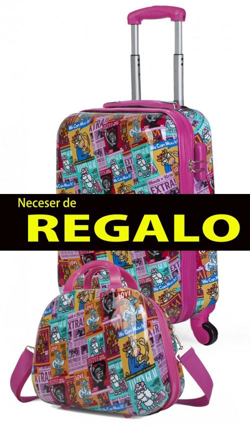 130750 maleta de cabina KIOSKUXUMUSU GIRLS de 4 ruedas