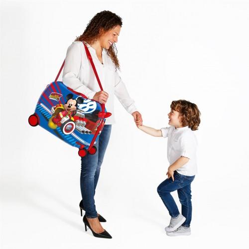 2369861 maleta infantil wold mickey ruedas delanteras multidireccionales  detalle 2