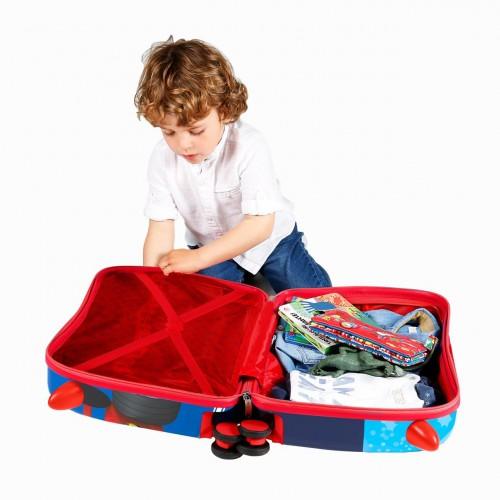 2369861 maleta infantil wold mickey ruedas delanteras multidireccionales  detalle