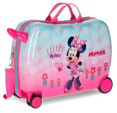 2379861 maleta infantil minnie heart  ruedas delanteras multidireccionales