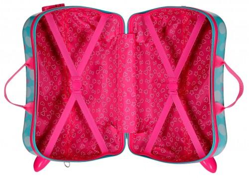 2379961 maleta infantil minnie heart 4 ruedas interior