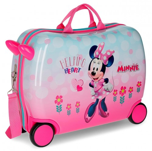 2379961 maleta infantil minnie heart 4 ruedas
