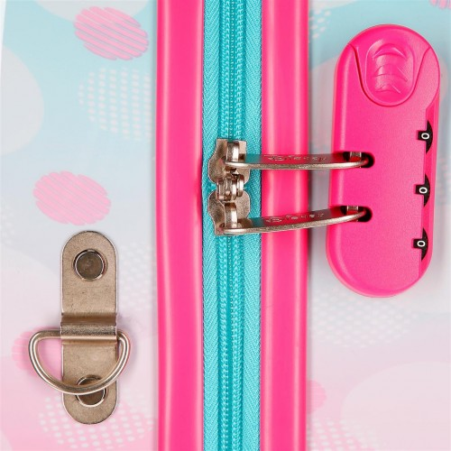 2379961 maleta infantil minnie heart 4 ruedas cerradura de combinación