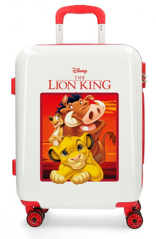 2448761 Maleta Cabina The Lion King Rojo de 4 Ruedas