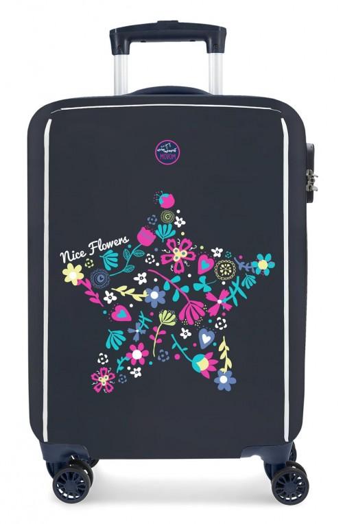 3441761 maleta de cabina movom nice flowers 4 ruedas