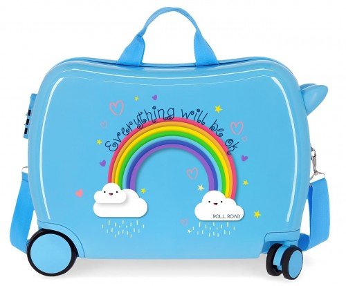 4299821 Maleta infantil Roll Road Arcoiris Everything OK azul