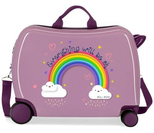 4299823 maleta infantil Roll Road Arcoiris Everything OK morado