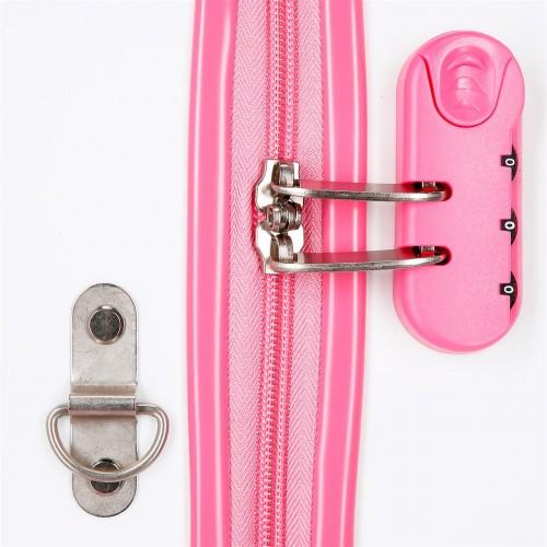 4481061 maleta infantil roll road rose correpasillos interior cerradura combinación