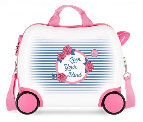 4481061 maleta infantil roll road rose correpasillos