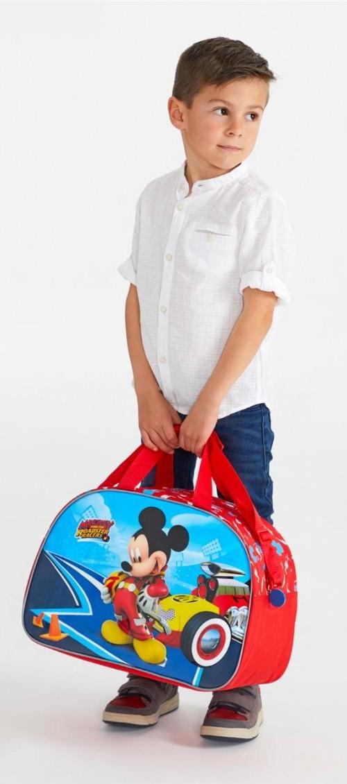4563261 bolsa de viaje 40 cm lets roll mickey  detalle