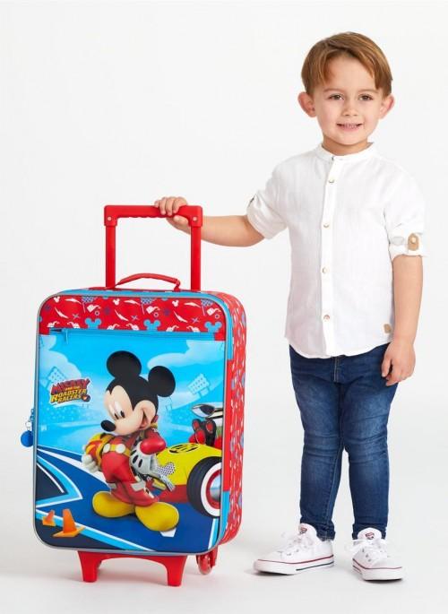 4569061 maleta cabina 2 ruedas lets roll mickey detalle