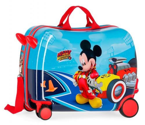 4569861 maleta infantil lets roll mickey ruedas delanteras multidireccionales
