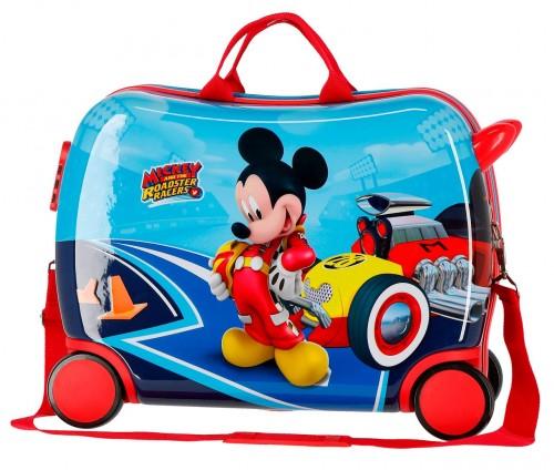 4569961 maleta infantil lets roll mickey 4 ruedas