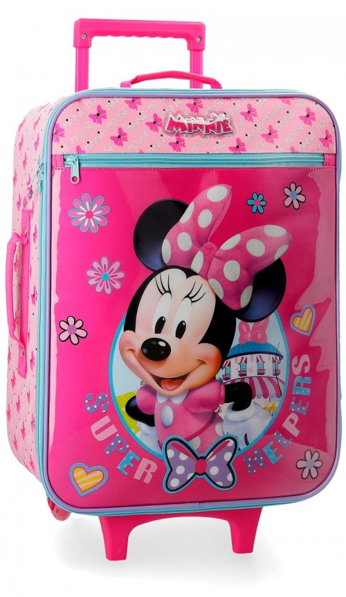 4579061 maleta cabina 2 ruedas minnie super helpers