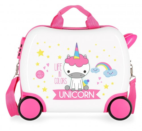 4741064 maleta infantil roll road little me unicorn