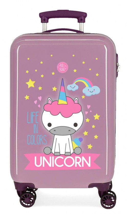 4741465 maleta cabina roll road little me unicorn lila