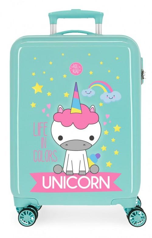 4741768 maleta cabina roll road little me unicorn turquesa