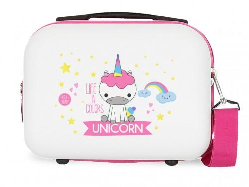 4743964 neceser rígido Roll Road Little Me Unicorn Blanco