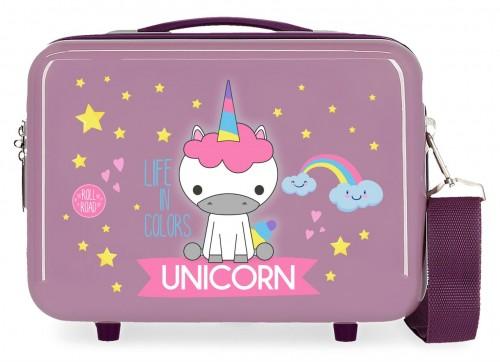 4743965 neceser rígido Roll Road Little Me Unicorn lila