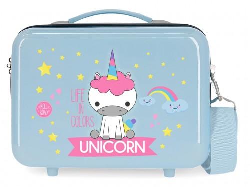 4743966 neceser rígido Roll Road Little Me Unicorn azul claro