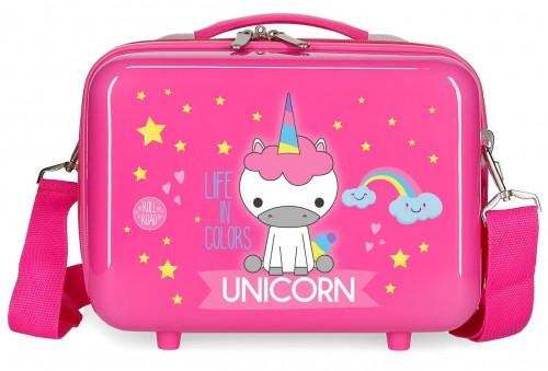 4743967 neceser rígido Roll Road Little Me Unicorn fucsia