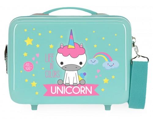 4743968 neceser rígido Roll Road Little Me Unicorn turquesa