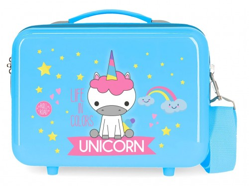 474396A neceser rígido Roll Road Little Me Unicorn azul