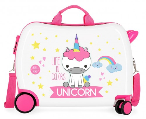 4749864 maleta infantil roll road little me unicorn