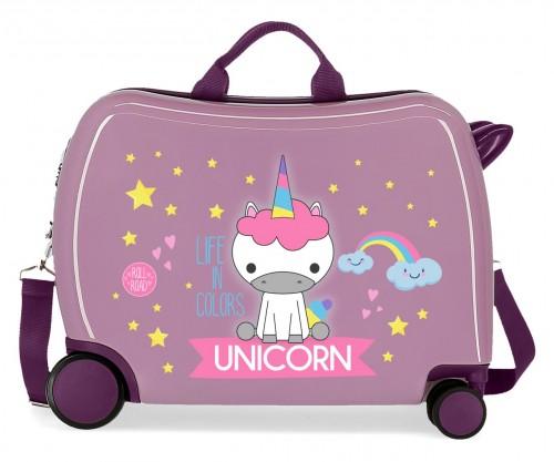 4749865 maleta infantil roll road little me unicorn lila
