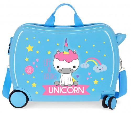 474986A maleta infantil roll road little me unicorn azul
