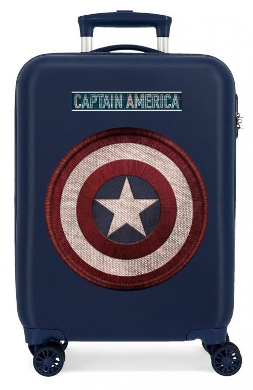 2221721 Maleta de Cabina Capitán América de 4 Ruedas