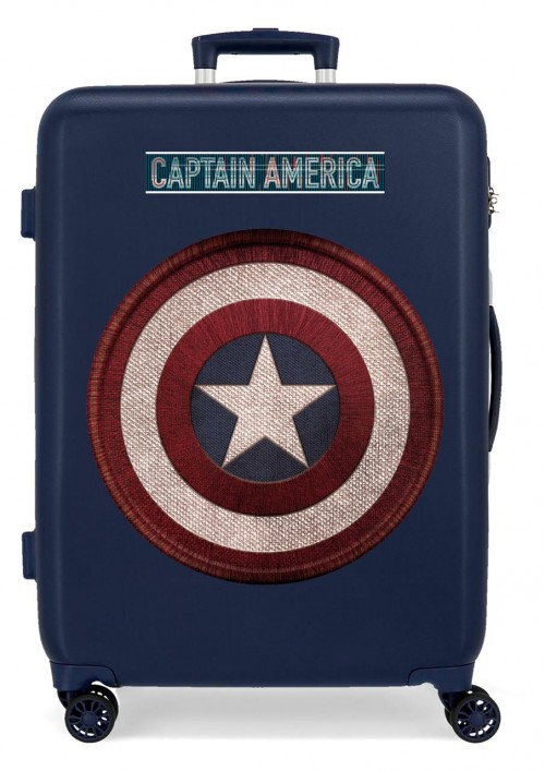 2221821 Maleta Mediana Capitán América de 4 Ruedas