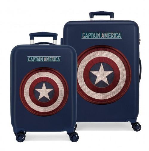 2221921 Juego maletas Capitán América de 4 Ruedas