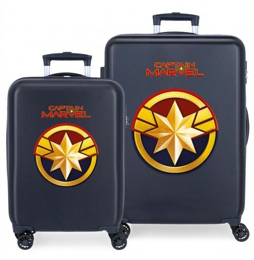 2471962 juego maletas cabina y mediana captain marvel all avengers