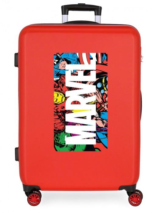 4361821 Maleta Mediana Action Marvel Rojo